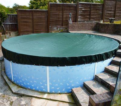 Deluxe Winter Debris Cover For Splasher & Steel Pools- 15ft x 21ft Oval