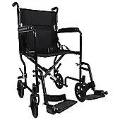 Aidapt Aluminium Compact Transport Wheelchair in Black