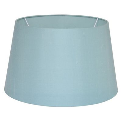 35cm Duck Egg Silk Lamp Shade Tapered Cylinder Fabric Double Lined Shade