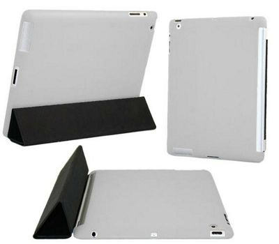 Grey Smart ProGel Skin Case - Apple iPad 3 (2012) 16gb 32gb 64gb (Works with Apple Smart Cover)
