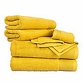 Homescapes Ochre Gold Cotton Supreme Luxury 6 Piece Towel Bale 700 GSM