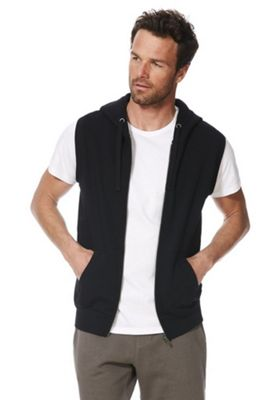F&F Sleeveless Zip-Through Hoodie Black 3XL