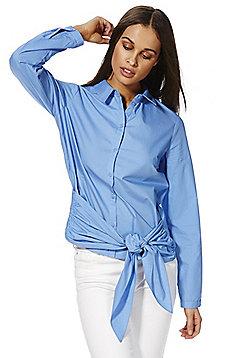 Vero Moda Tie Detail Shirt - Blue