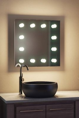 Diamond X Wallmount Hollywood Makeup Mirror Daylight Dimmable LED k411CWbath