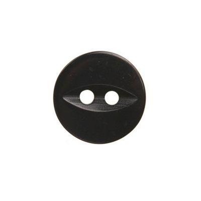 Hemline Black Fish Eye Buttons 13.75mm 8pk