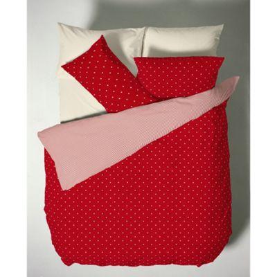 Catherine Lansfield Red Polka Dot Duvet Cover Set - Single