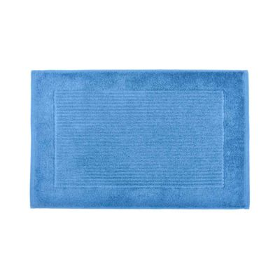 Homescapes Imperial Plain Bath Mat Cobalt Blue