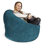 Lounge Pug™ Mini Mammoth Cord Bean Bag - Agean Blue