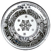 Sparkling Snowflake Metallic Large Paper Plates - 30cm - 8 Pack