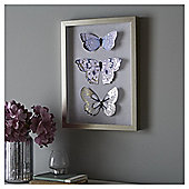 Fox & Ivy Set Of 3 Butterflies Wall Art