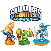 Skylanders Giants - Triple Character Pack - Eruptor, Stealth Elf & Terrafin