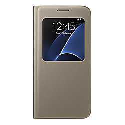 best website 856fe 3bfac SAMSUNG S7 EDGE SVIEW CASE GOLD