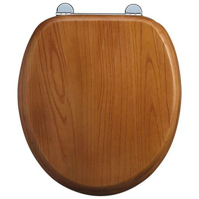Burlington Oak WC Seat with Bar Hinge