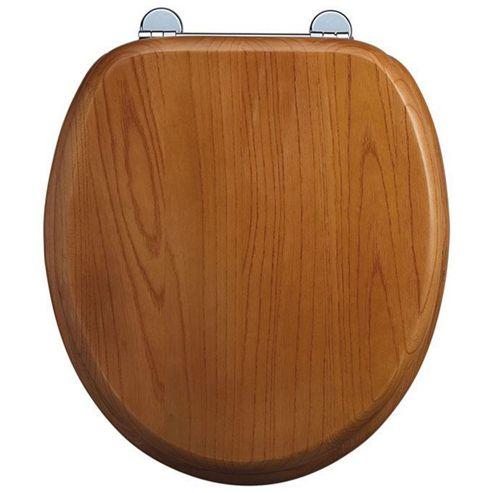 Burlington Oak WC Seat with Bar Hinge