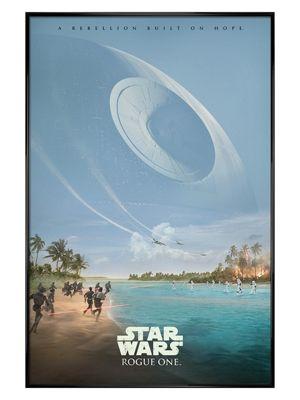 Star Wars Rogue One Gloss Black Framed A Rebellion Built On Hope Poster 61x91.5cm,