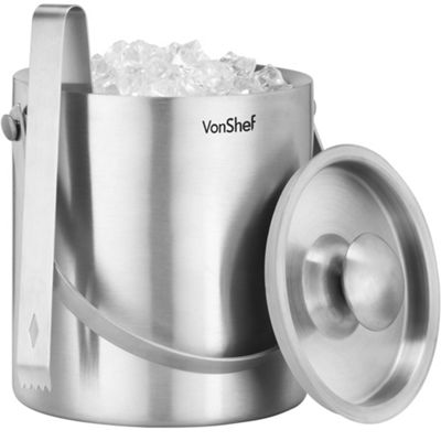 buy vonshef 2 litre double walled insulated stainless steel ice