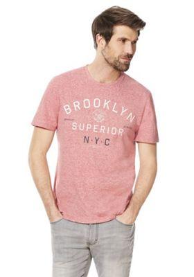 F&F Brooklyn Superior Slogan T-Shirt Red 2XL