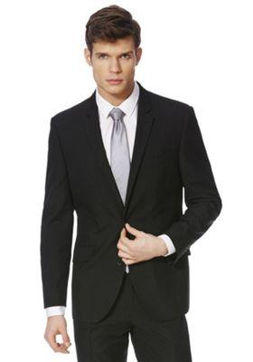 F&F Regular Fit Suit Jacket 42 Chest long length Black