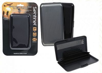 Summit RFID Hard Shell Cash & Card Wallet