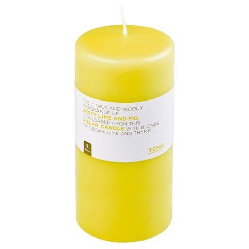 Tesco Zesty Lime & Fig Pillar Candle 170X80