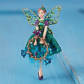 Peacock Fairy Christmas Tree Decoration