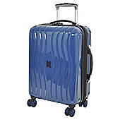 IT Luggage Gloss 8 wheel Hard Shell Poseidon Blue Cabin Case