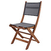 Kingsbury Mesh and Wood Folding Garden Chair, 2 Pack