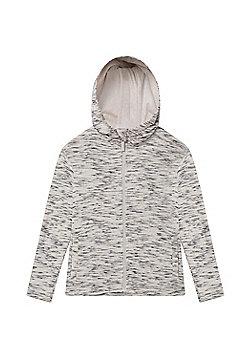 Zakti Girls Cotton Blend Kids Revive Full-Zip Isocool Hoodie in Slim Fit - White