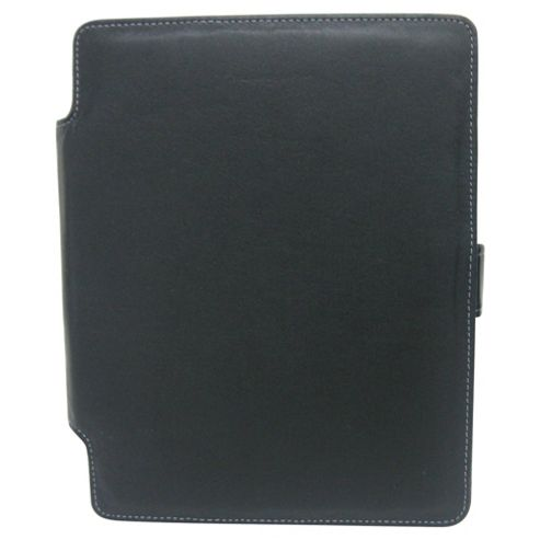 Tesco Finest Leather Case, Stand for new iPad & iPad2 - Black