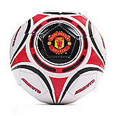 Manchester United Star Official Supporter Football Soccer Ball White - Size 5