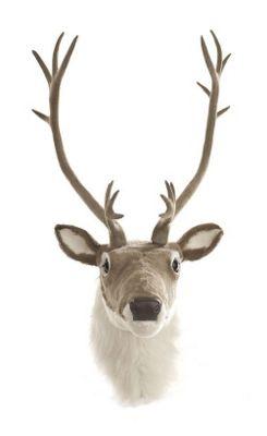 Wall Mounted Plush Reindeer Head Christmas Decoration