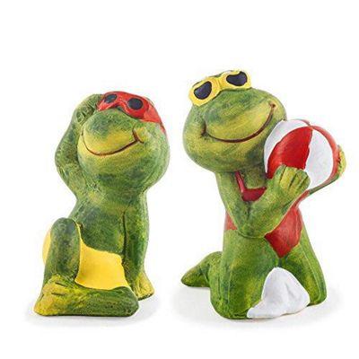 Margot and Bernhard The Sunshine Loving Garden Frog Ornaments