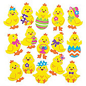 Easter Chick Felt Craft Stickers (Pack of 90)