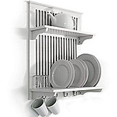 Novel - Kitchen Plate Bowl Cup Display / Wall Rack - White