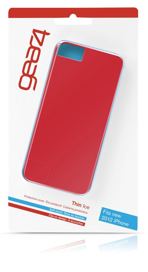 Gear4 Thin Ice Liquid Rubber Clip-On Case Cover for iPhone 5/5S - Red