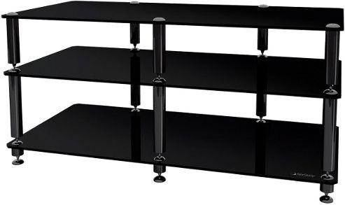 Black Three Shelf AV Unit for up to 50 inch Screens