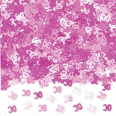 Party - 30th Confetti - PINK - Amscan