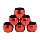 Round Napkin Rings in Red - Pack Of 6