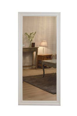 Large Antique Design Full Length Cream Wall Mirror 5Ft3 X 2Ft5 160Cm X 73Cm New