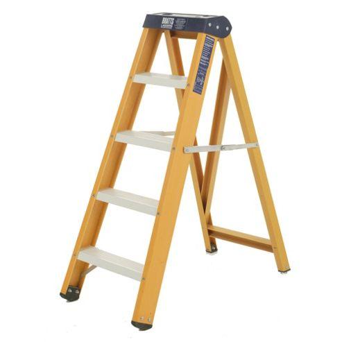 Heavy Duty 4 Tread All GRP Fibreglass Swingback Step Ladder