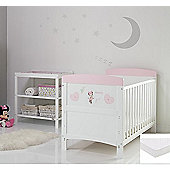 Obaby Disney Inspire Minnie Mouse 2 Piece Room Set/Mattress/Changing Mat - Hearts