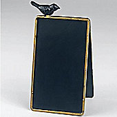 Freestanding A-frame Blackboard / Chalkboard / Memo Board With Perching Bird