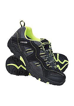 Mountain Warehouse Walking Shoes Stampede Kids Waterproof Suede and Mesh Upper - Green