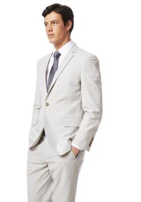 F&F Regular Fit Suit Jacket Light Grey 52 Chest regular length