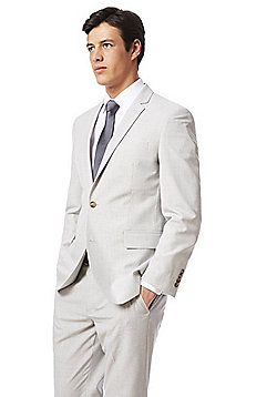 F&F Regular Fit Suit Jacket - Light Grey