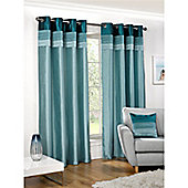 Hamilton McBride Seattle Lined Ring Top Curtains - Teal
