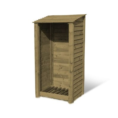 Burley wooden log store - 6ft