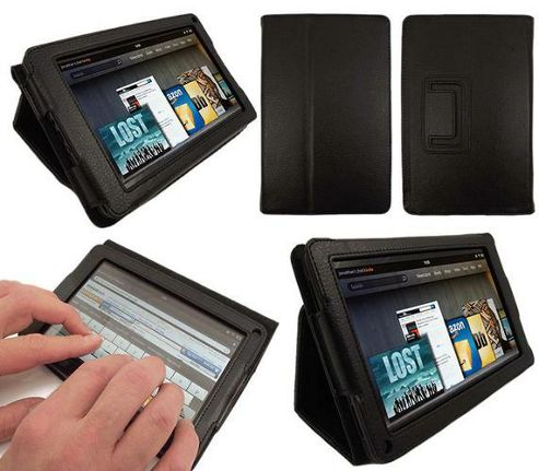 iTALKonline Type Multi-Functional Case with Sleep Sensor and PadWear Stand Black - For Amazon Kindle Fire Tablet