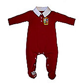 British & Irish Lions Rugby Baby Sleepsuit - Red - Red