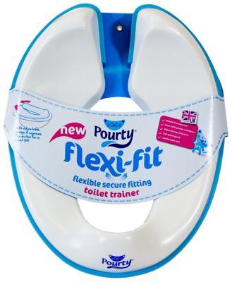 Pourty Flexi-Fit Toilet Trainer, Blue